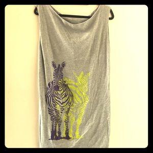 AMERICAN APPAREL zebra scoop neck shirt/dress